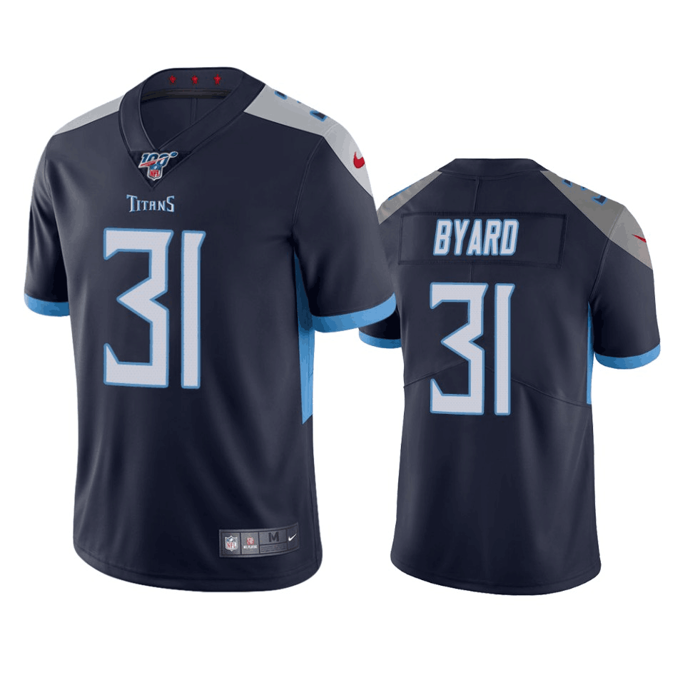 Men's Tennessee Titans #31 Kevin Byard Navy 2019 100th Season Vapor Untouchable Limited Stitched NFL Jersey