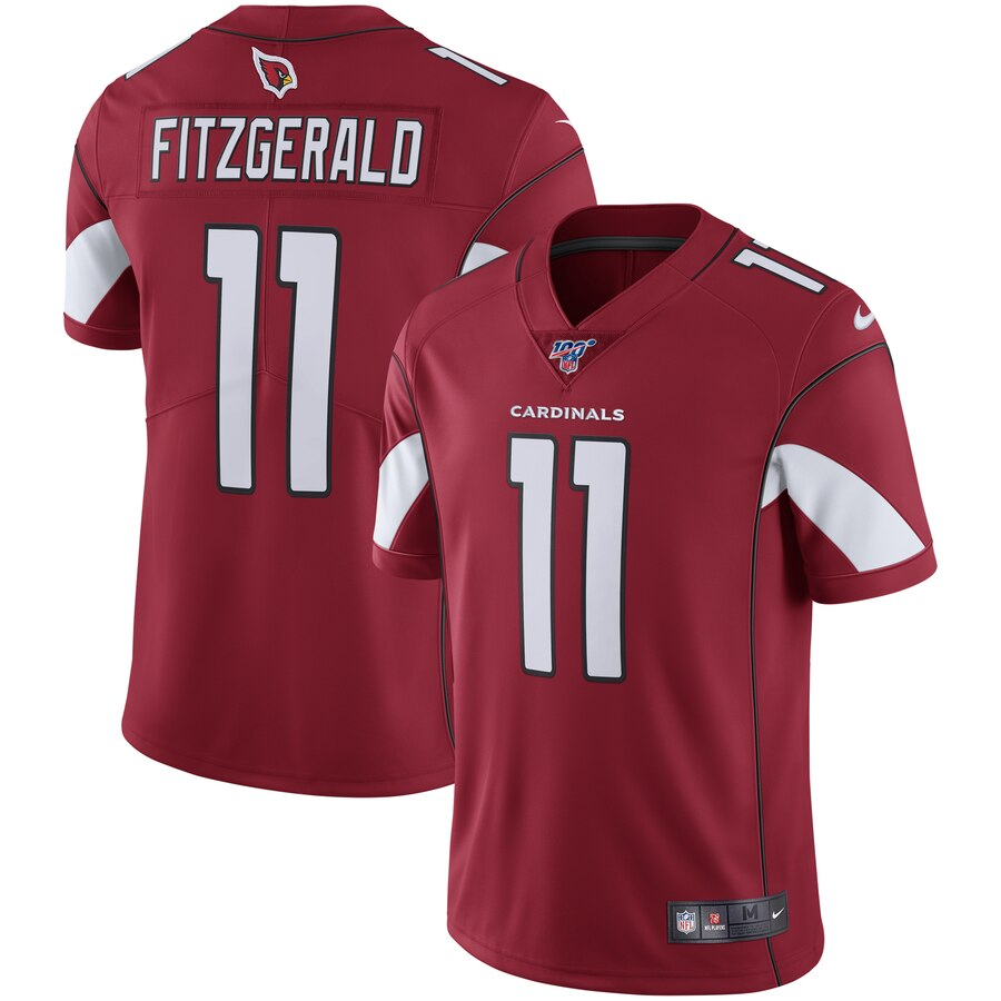 Men's Arizona Cardinals #11 Larry Fitzgerald Red 2019 100th Season Vapor Untouchable Limited Stitched NFL Jersey