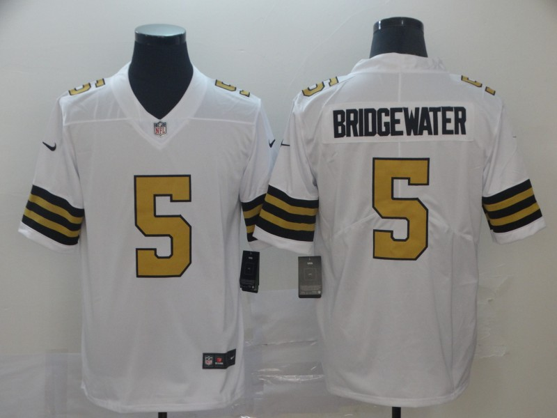 Men's New Orleans Saints #5 Teddy Bridgewater White Color Rush Limited Stitched NFL Jersey