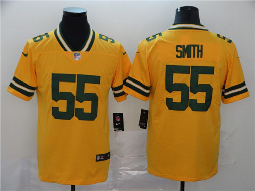 Men's Green Bay Packers #55 Za'Darius Smith Gold Inverted Legend Stitched NFL Limited Jersey
