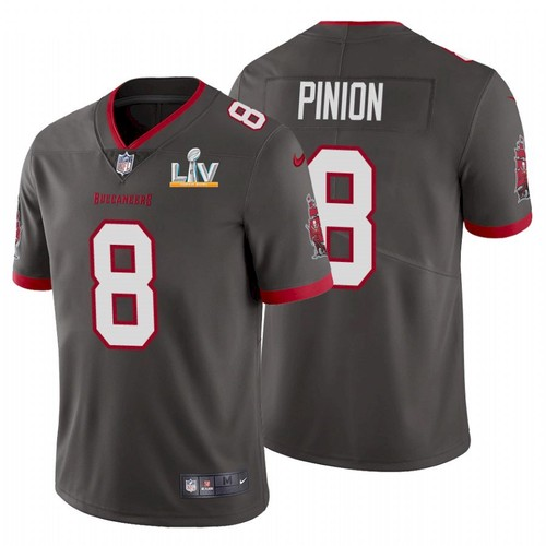 Men's Tampa Bay Buccaneers #8 Bradley Pinion Grey 2021 Super Bowl LV Limited Stitched NFL Jersey