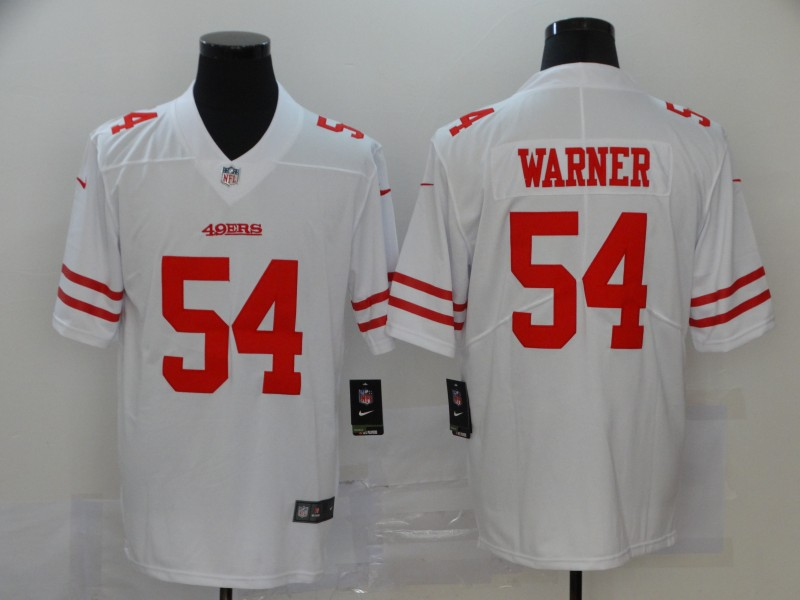 Men's San Francisco 49ers #54 Fred Warner White Vapor Untouchable Limited Stitched NFL Jersey