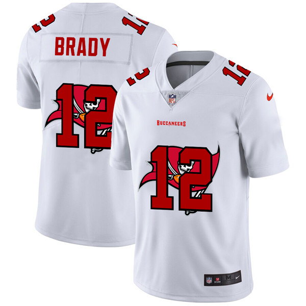Men's Tampa Bay Buccaneers #12 Tom Brady White Stitched NFL Jersey