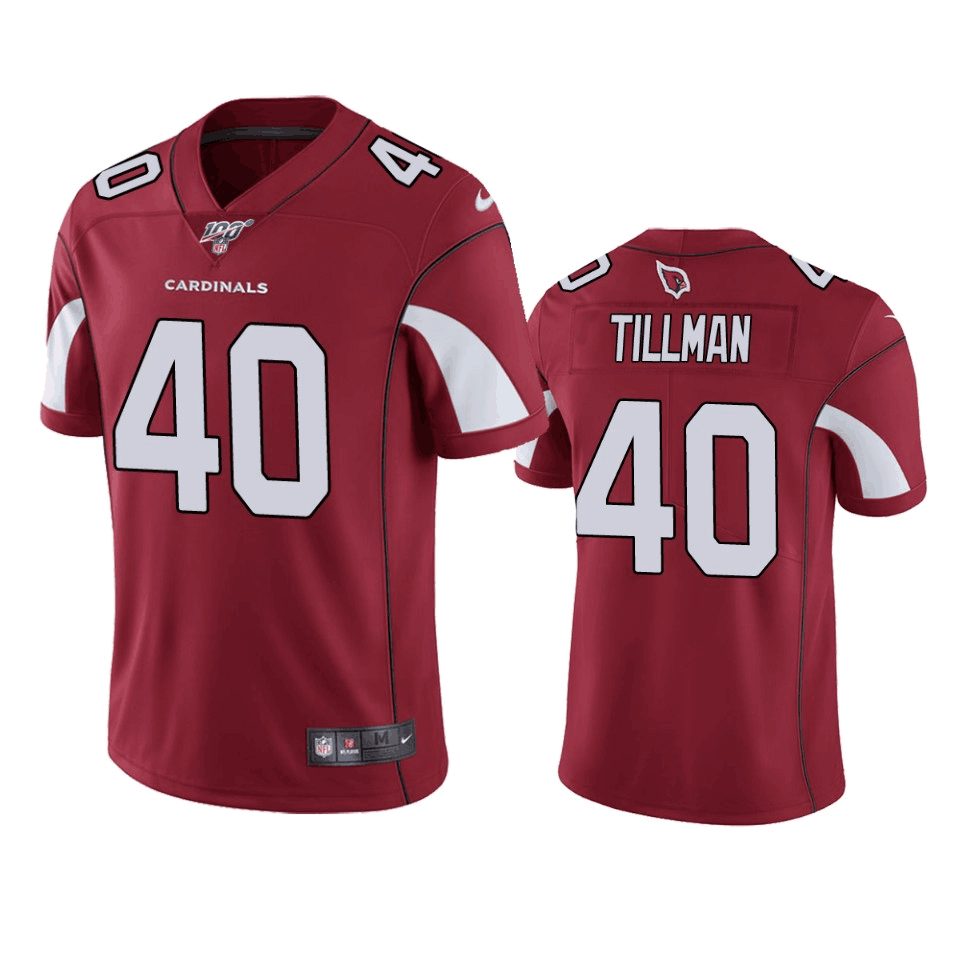 Men's Arizona Cardinals #40 Pat Tillman Red 2019 100th Season Vapor Untouchable Limited Stitched NFL Jersey