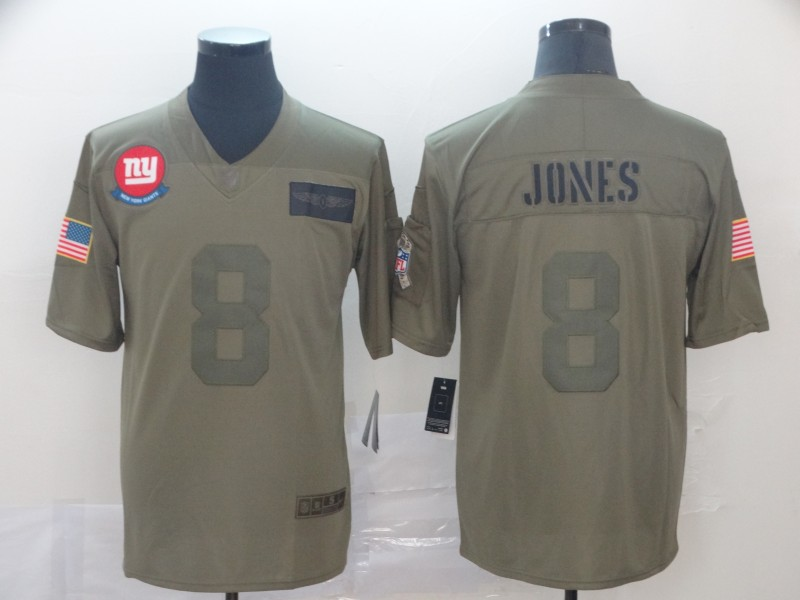 Men's New York Giants #8 Daniel Jones 2019 Camo Salute To Service Limited Stitched NFL Jersey