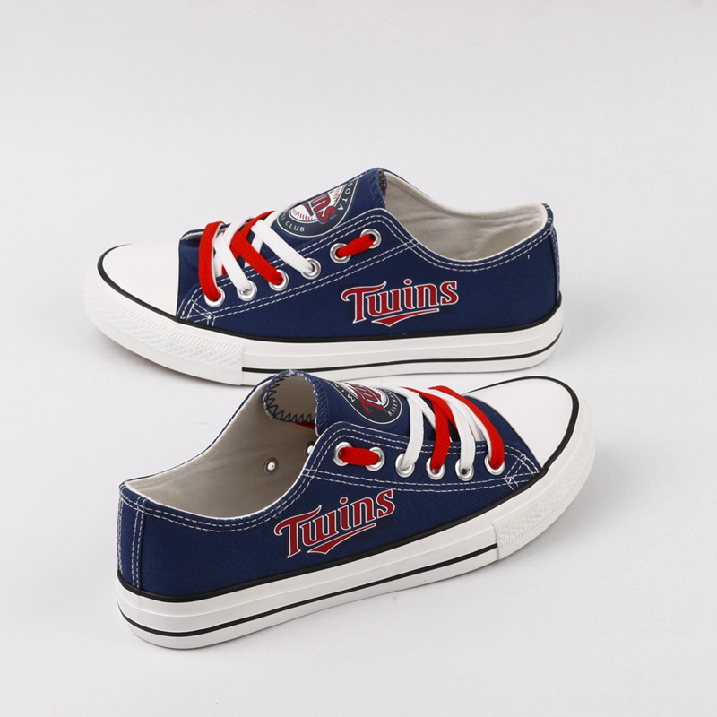 Women and Youth MLB Minnesota Twins Repeat Print Low Top Sneakers