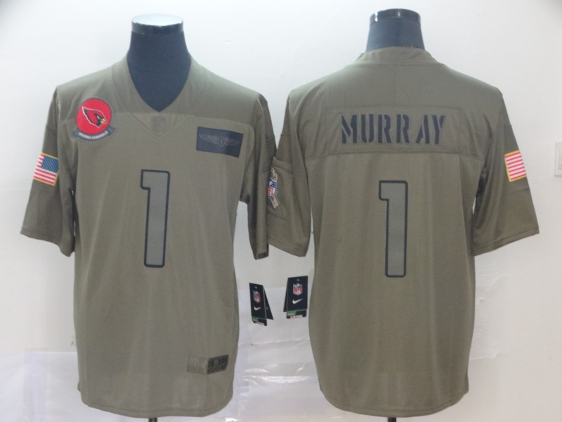Men's Arizona Cardinals #1 Kyler Murray 2019 Camo Salute To Service Limited Stitched NFL Jersey