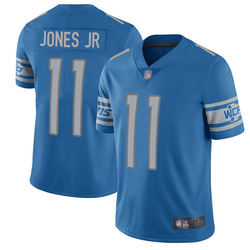 Men's Detroit Lions #11 Marvin Jones Jr. Blue Vapor Untouchable Limited Stitched NFL Jersey