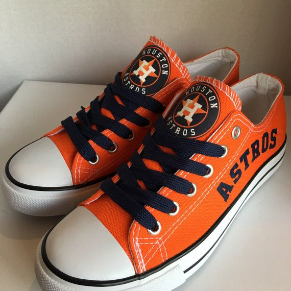 Women and Youth MLB Houston Astros Repeat Print Low Top Sneakers 008