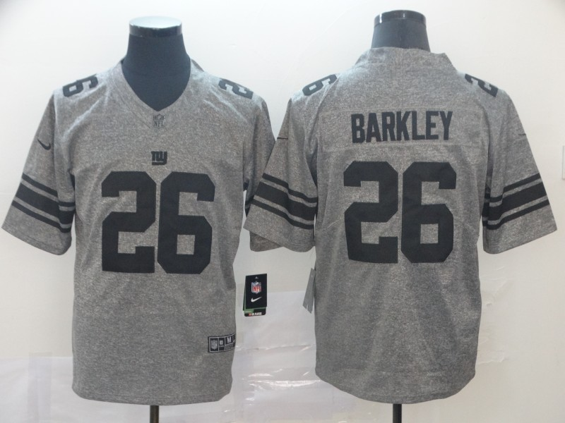 Men's New York Giants #26 Saquon Barkley Grey Limited Stitched NFL Jersey