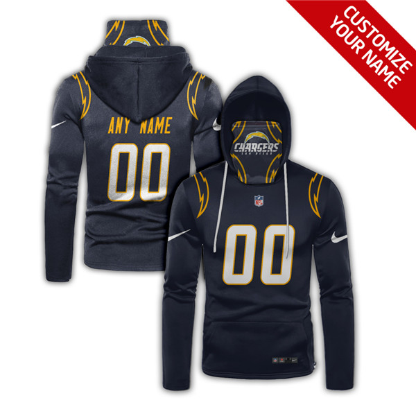 Men's Los Angeles Chargers Customize Hoodies Mask 2020