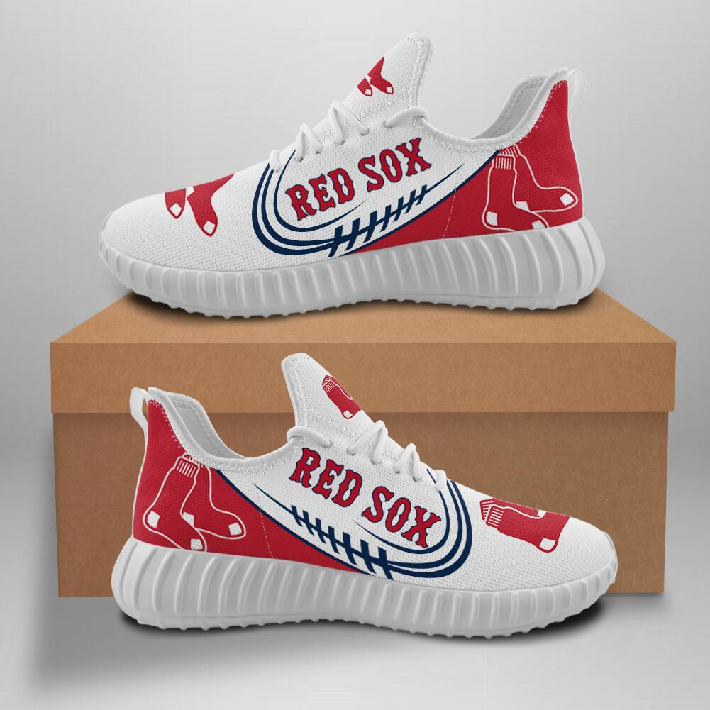 Women's MLB Boston Red Sox Lightweight Running Shoes 005
