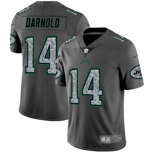 Men's New York Jets #14 Sam Darnold 2019 Gray Fashion Static Limited Stitched NFL Jersey