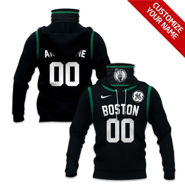 Men's Boston Celtics Customize Hoodies Mask 2020