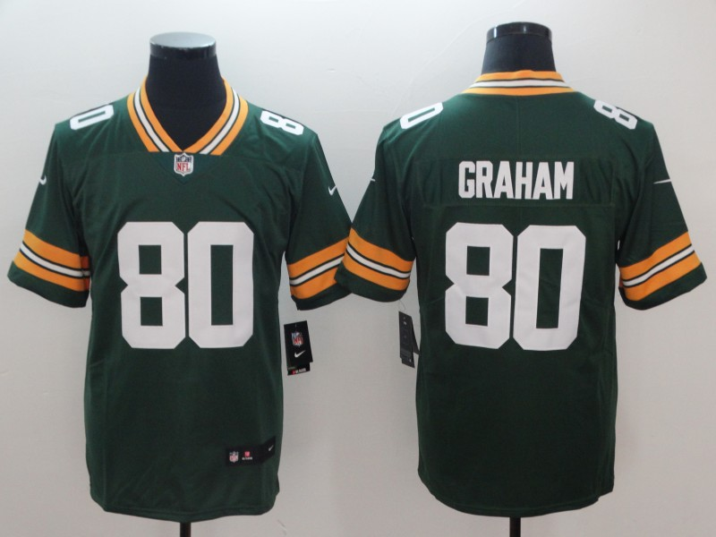 Men's Packers #80 Jimmy Graham Green Vapor Untouchable Limited NFL Stitched Jersey