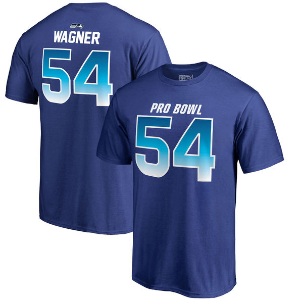 Seahawks Bobby Wagner AFC Pro Line 2018 NFL Pro Bowl Royal T-Shirt