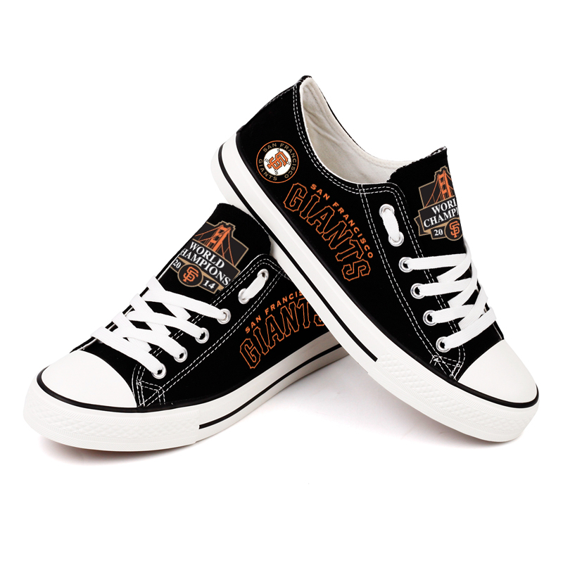 Women and Youth MLB San Francisco Giants Repeat Print Low Top Sneakers 005