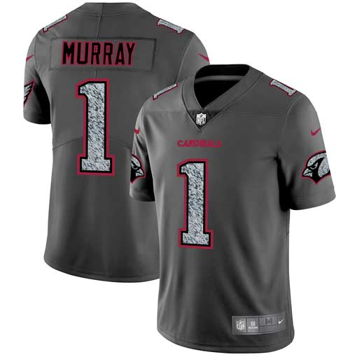 Men's Arizona Cardinals #1 Kyler Murray 2019 Gray Fashion Static Limited Stitched NFL Jersey