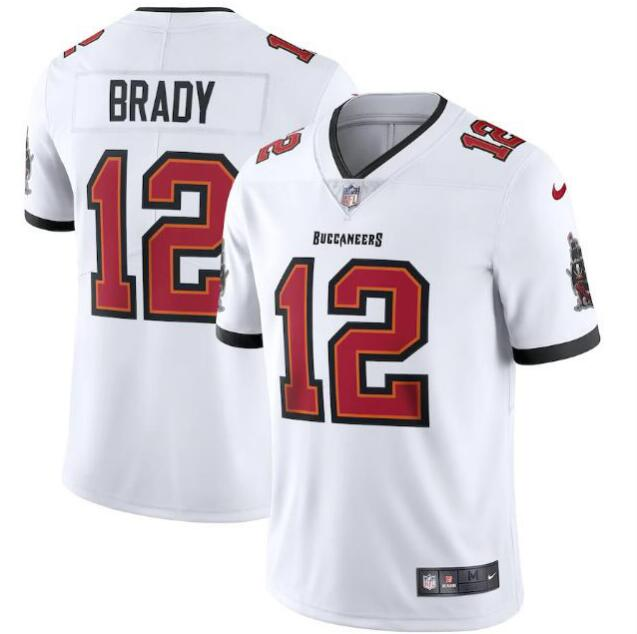 Men's Tampa Bay Buccaneers #12 Tom Brady 2020 White Vapor Untouchable Limited Stitched NFL Jersey