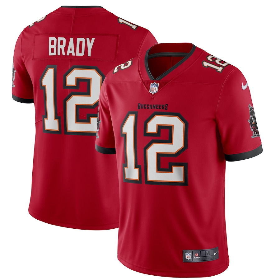 Men's Tampa Bay Buccaneers #12 Tom Brady 2020 Red Vapor Untouchable Limited Stitched NFL Jersey