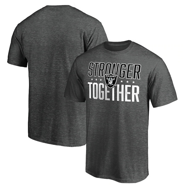 Men's Las Vegas Raiders Heather Stronger Together Space Dye T-Shirt