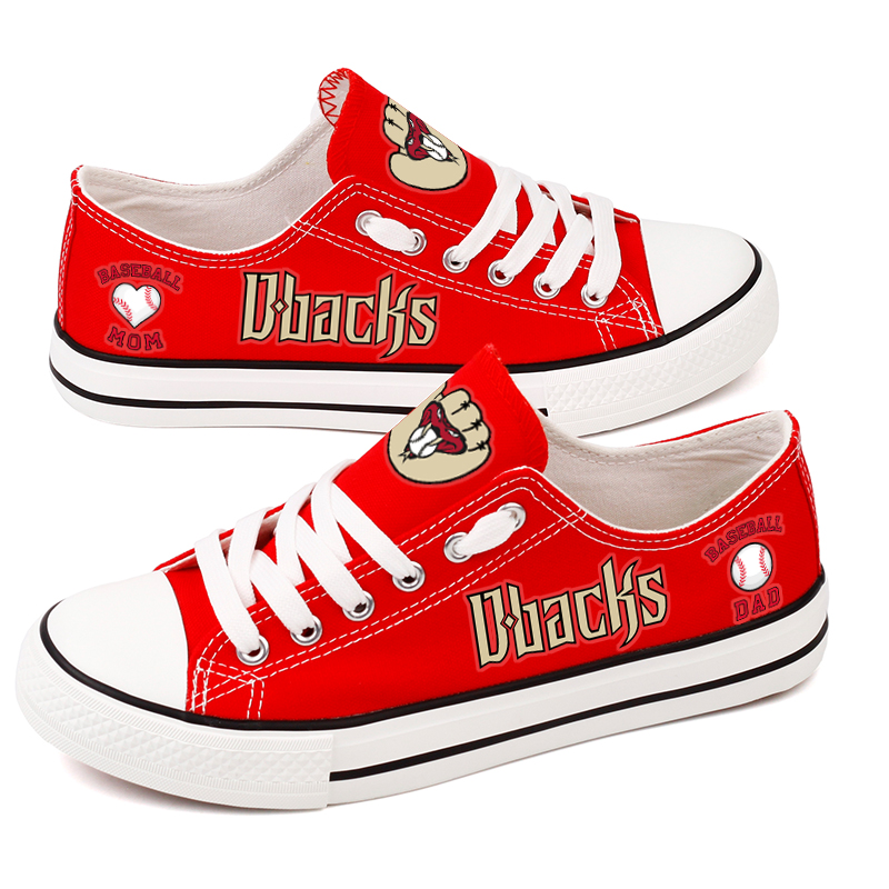 Women and Youth MLBArizona Diamondbacks Repeat Print Low Top Sneakers