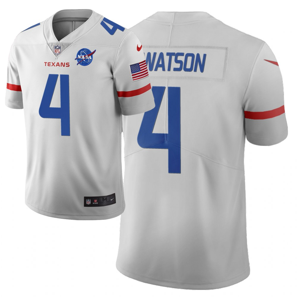 Men's Houston Texans #4 Deshaun Watson White 2019 City Edition Limited Stitched NFL Jersey