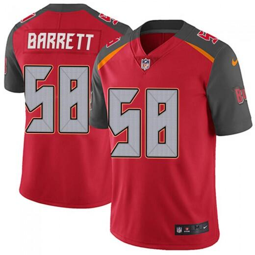 Men's Tampa Bay Buccaneers #58 Shaquil Barrett Red Vapor Untouchable Limited Stitched NFL Jersey