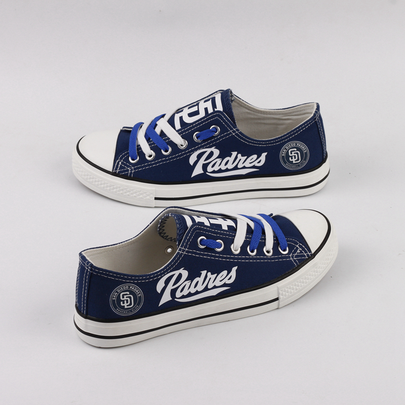 Women and Youth MLB San Diego Padres Repeat Print Low Top Sneakers