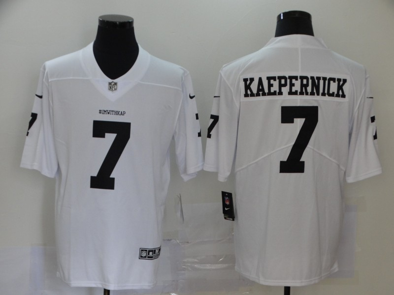 Men's San Francisco 49ers #7 Colin Kaepernick White Vapor Untouchable Limited Stitched NFL Jersey
