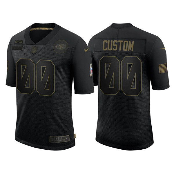 Men's San Francisco 49ers ACTIVE PLAYER Custom 2020 Black Salute To Service Limited Stitched NFL Jersey
