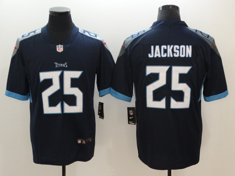 Men's Tennessee Titans #25 Adoree' Jackson Navy New 2018 Vapor Untouchable Limited Stitched Jersey