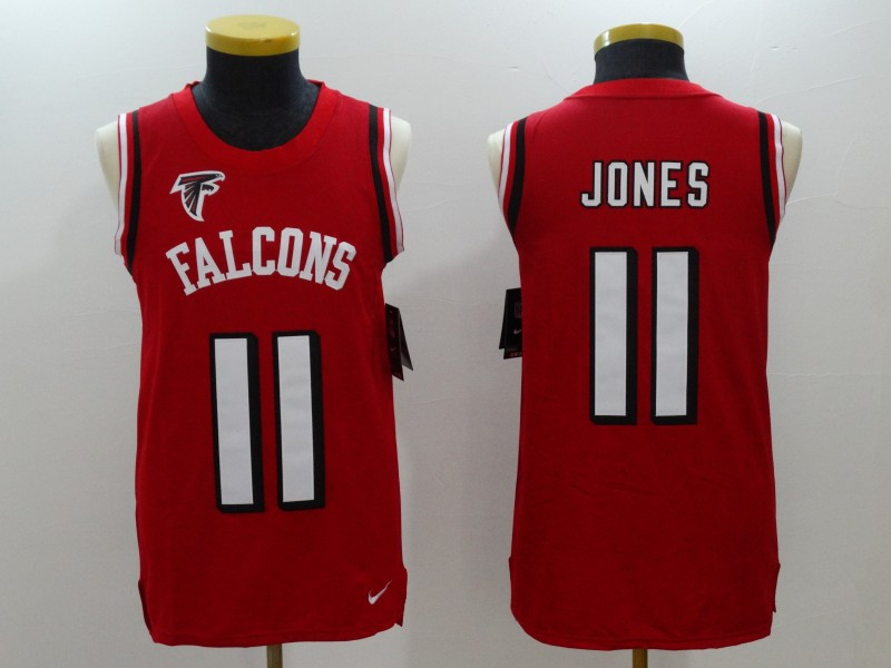 Men's Nike Atlanta Falcons #11 Julio Jones Red Team Color Stitched NFL Limited Tank Top Jersey