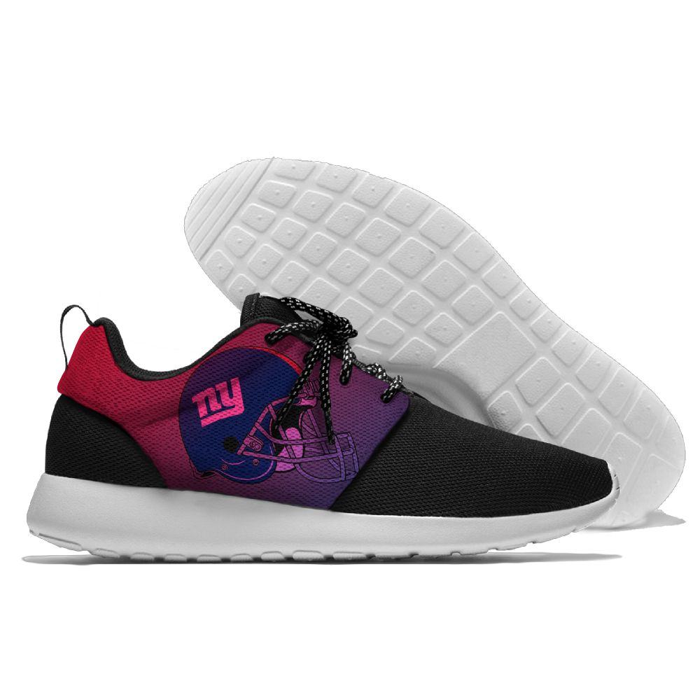 Women's NFL New York Giants Roshe Style Lightweight Running Shoes 005