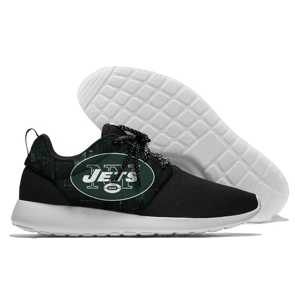 Women's NFL New York Jets Roshe Style Lightweight Running Shoes 005