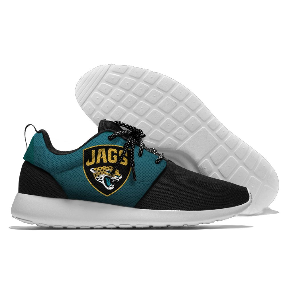 Men's NFL Jacksonville Jaguars Roshe Style Lightweight Running Shoes 005