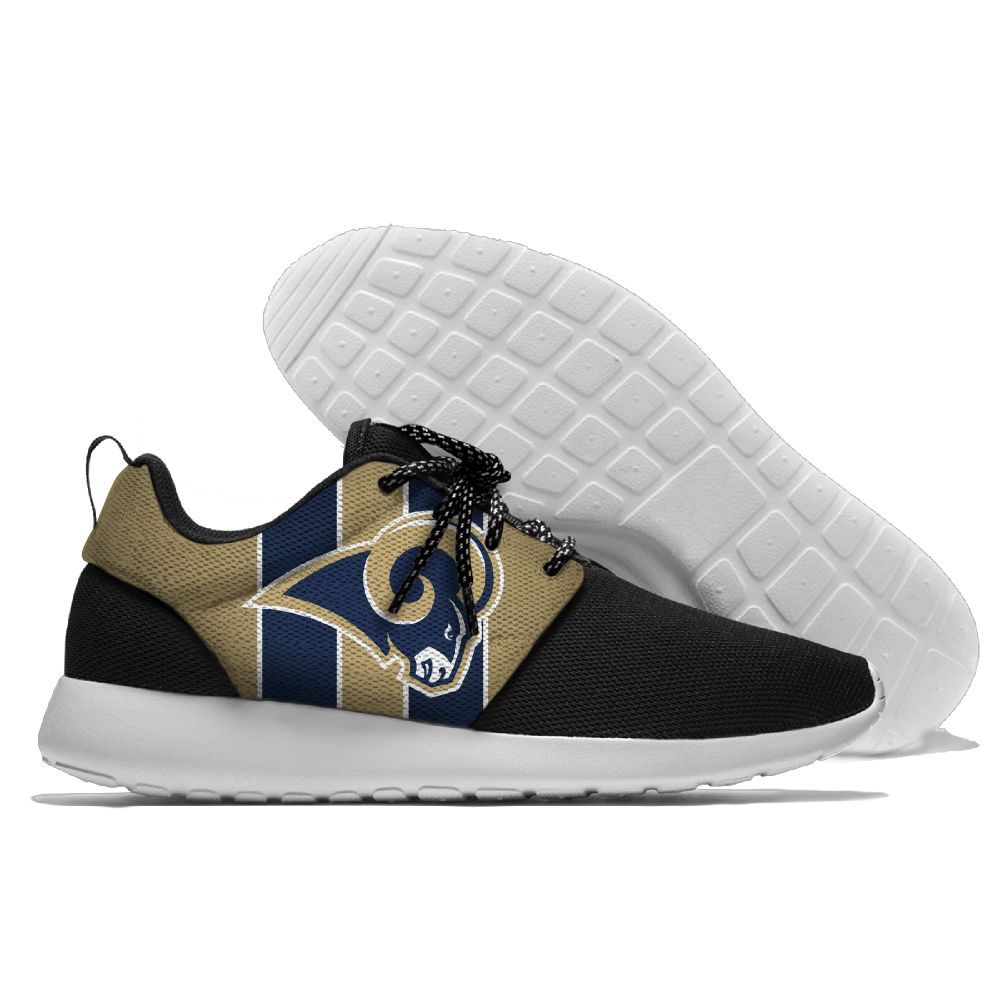 Women's NFL Los Angeles Rams Roshe Style Lightweight Running Shoes 005