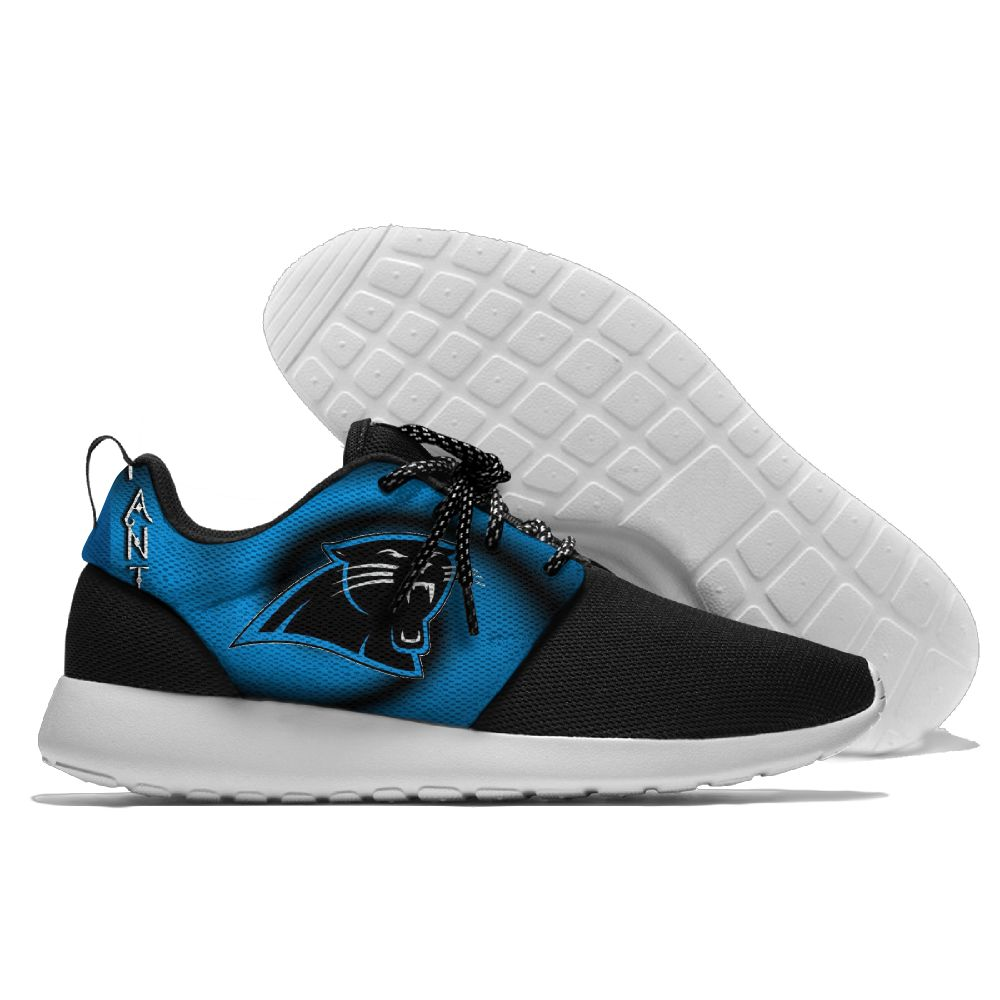 Women's NFL Carolina Panthers Roshe Style Lightweight Running Shoes 005