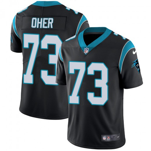 Men's Carolina Panthers #73 Michael Oher Black Vapor Untouchable NFL Limited Stitched Jersey