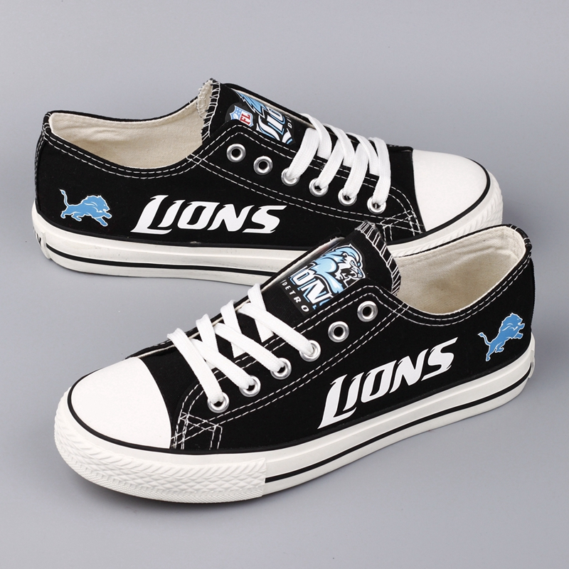 Men's NFL Detroit Lions Repeat Print Low Top Sneakers 002