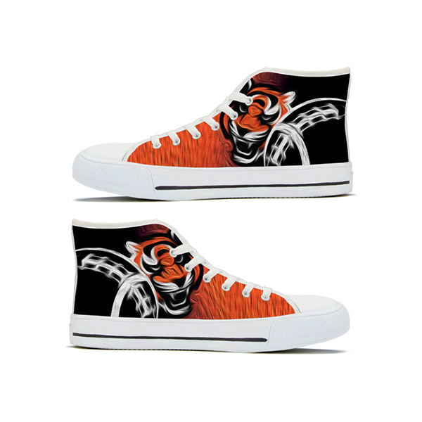 Men's Detroit Tigers High Top Canvas Sneakers 001