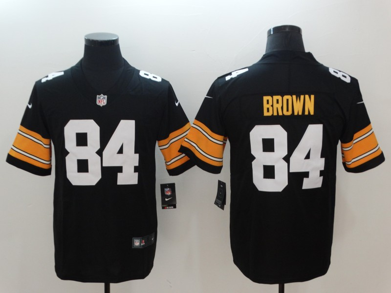 Men's Pittsburgh Steelers # 84 Antonio Brown Black 2018 Vapor Untouchable Limited Stitched NFL Jersey