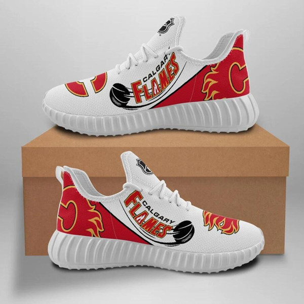 Women's NHL Calgary Flames Lightweight Running Shoes 001