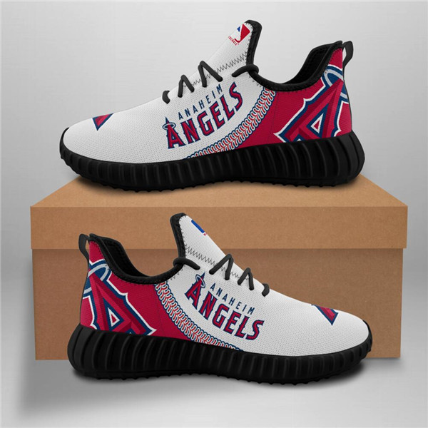 Women's MLB Los Angeles Angels Lightweight Running Shoes 004