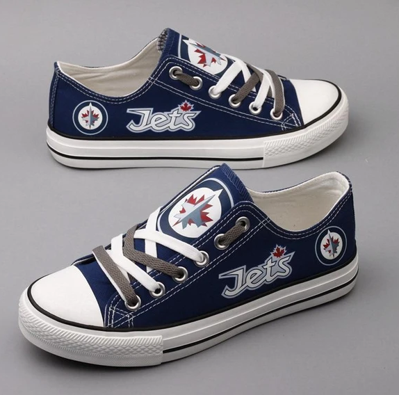 All Sizes NFL Winnipeg Jets Repeat Print Low Top Sneakers 006