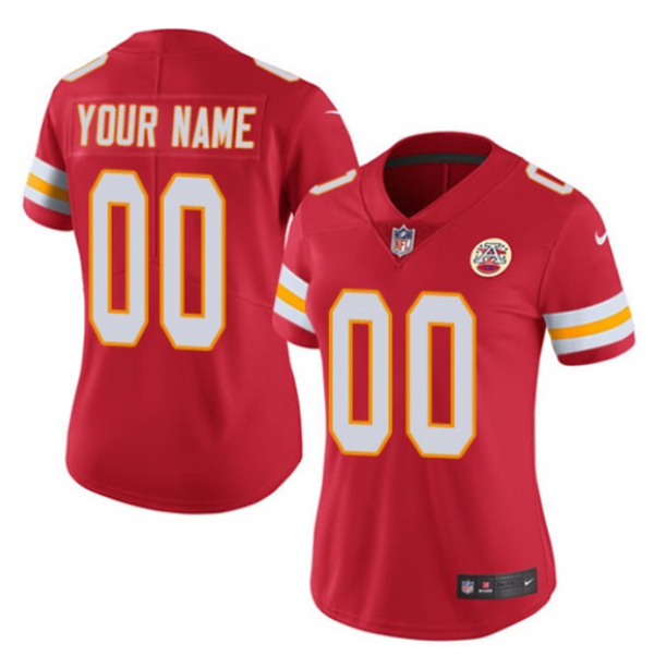 Women's Kansas City Chiefs ACTIVE PLAYER Custom Red Limited Stitched Jersey(Run Small)