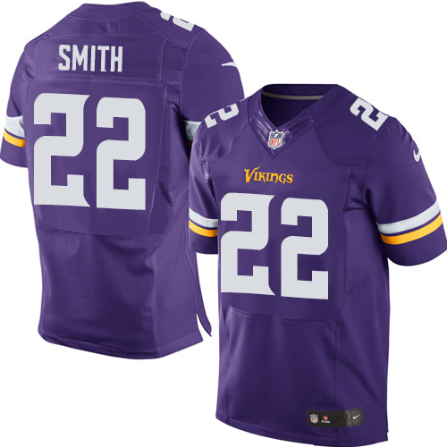 Nike Vikings #22 Harrison Smith Purple Team Color Men's Stitched NFL Elite Jersey