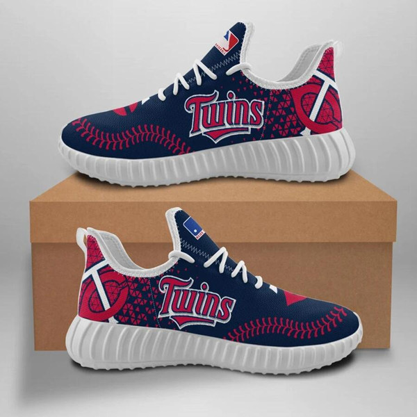 Women's MLB Minnesota Twins Lightweight Running Shoes 002