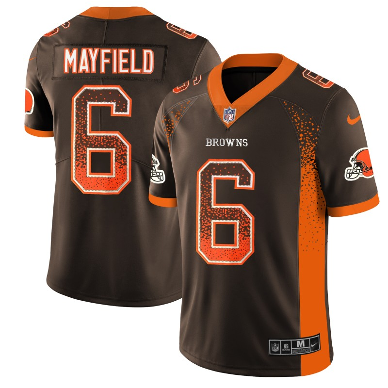 Men's Browns #6 Baker Mayfield Brown 2018 Drift Fashion Color Rush Limited Stitched NFL Jersey