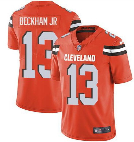 Men's Cleveland Browns #13 Odell Beckham Jr. Orange Vapor Untouchable Limited Stitched NFL Jersey